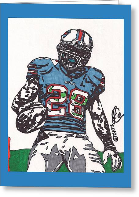 Cj Spiller 1 Greeting Card by Jeremiah Colley