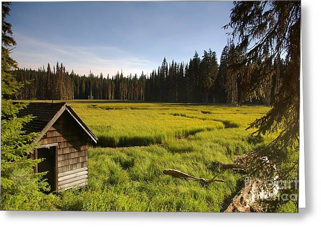 Clackamas Meadow Pump House- 2 Greeting Card