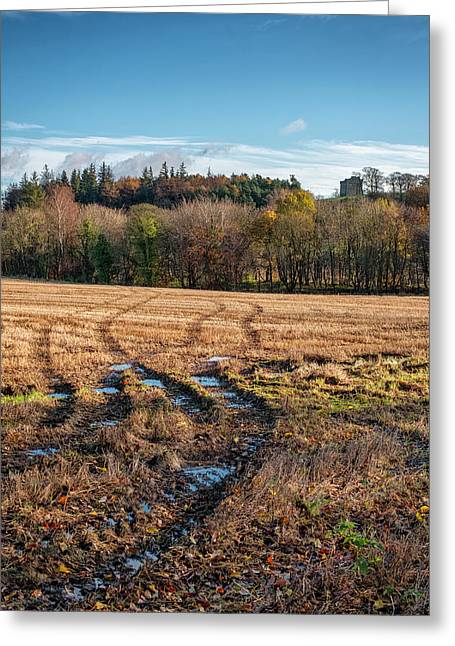Greeting Card featuring the photograph Clackmannan Tower In Central Scotland by Jeremy Lavender Photography