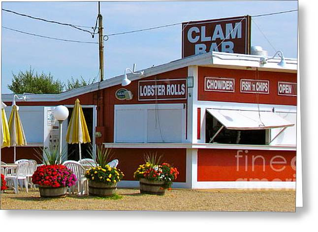 Clam Bar Greeting Card