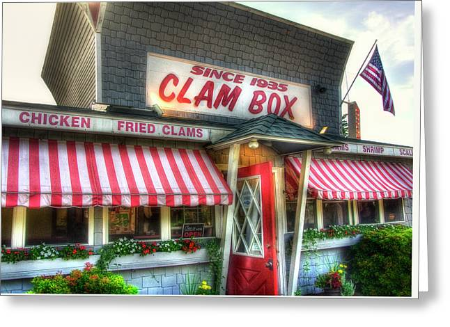 Clam Box Restaurant - Ipswich Ma Greeting Card by Joann Vitali