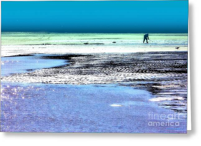 Clam Digger Greeting Card by Andrew Cravello