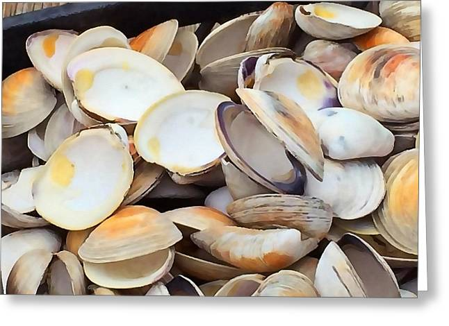Clam Shells Greeting Card by Art Block Collections