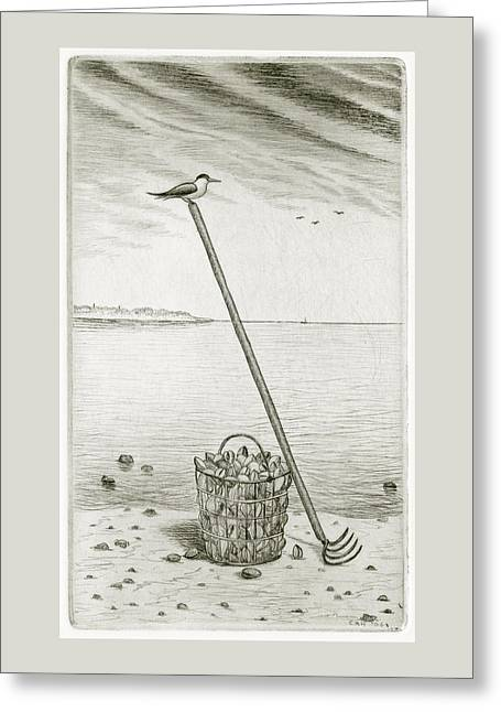 Clamming Greeting Card