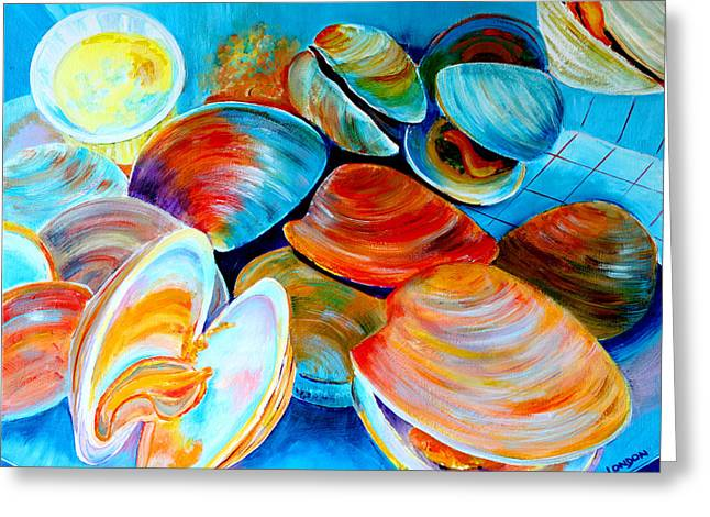 Clams At The Jersey Shore Greeting Card