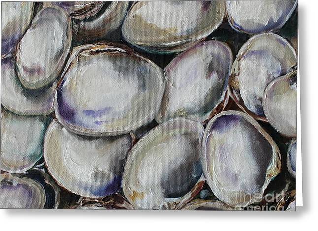 Clams Greeting Card by Kristine Kainer
