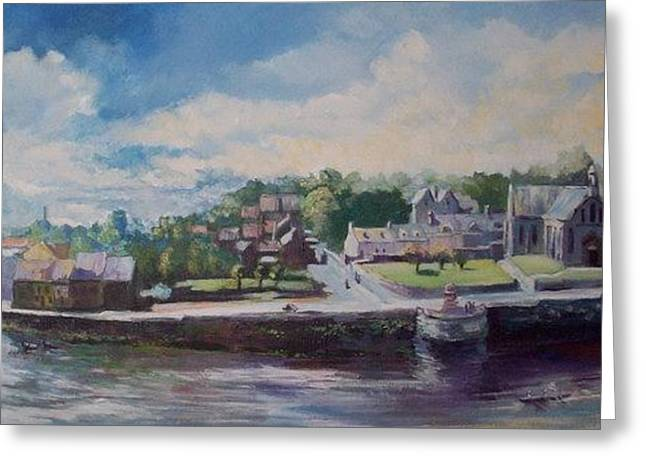Greeting Card featuring the painting Clancy Strand-limerick-ireland by Paul Weerasekera