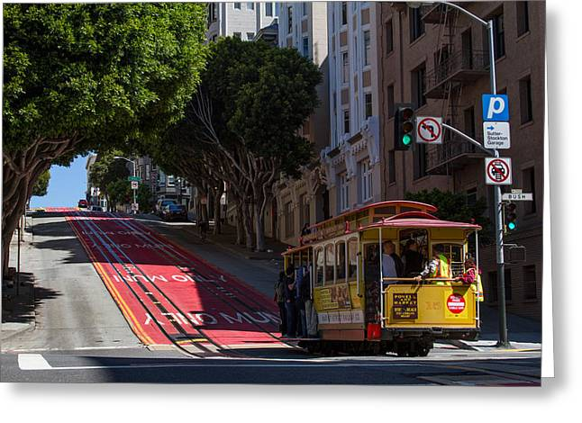 Clang Clang Goes The Cable Car Greeting Card