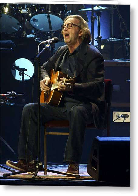 Clapton Acoustic Greeting Card by Steven Sachs