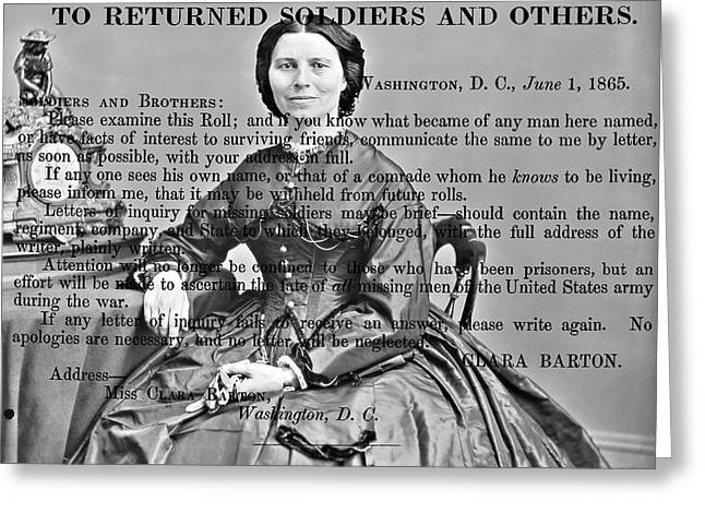 Clara Barton Greeting Card