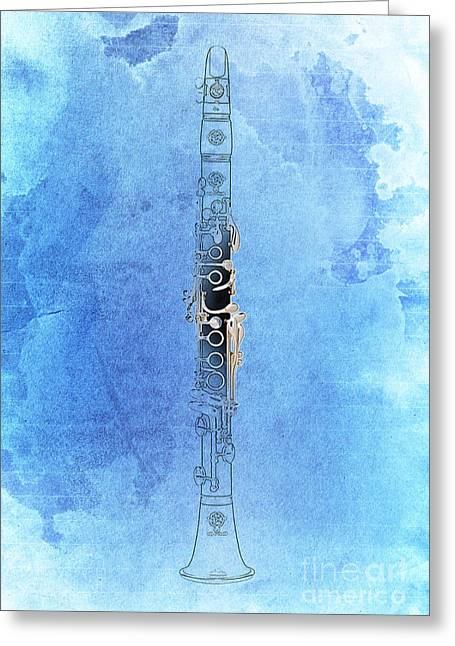 Clarinet 21 Jazz B Greeting Card