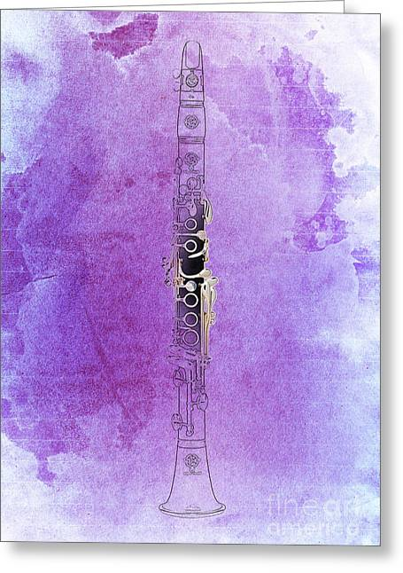 Clarinet 21 Jazz P Greeting Card