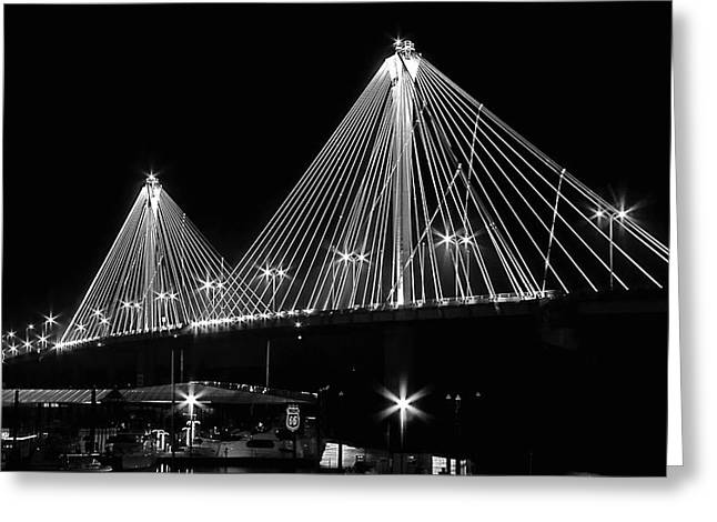 Clark Bridge Night Greeting Card
