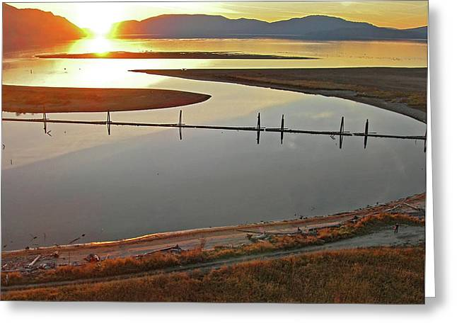 Clark Fork Delta Greeting Card by Jerry Luther