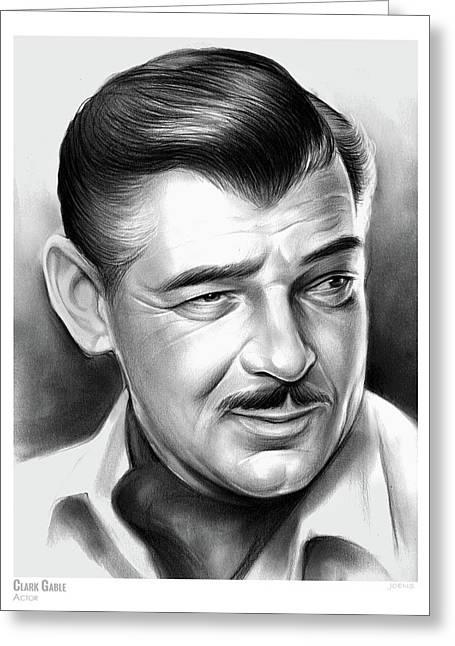 Clark Gable 26aug17 Greeting Card