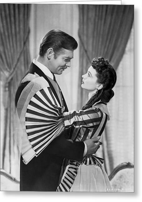 Clark Gable And Vivien Leigh Greeting Card by Underwood Archives