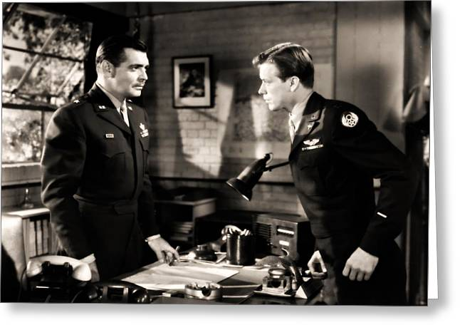 Greeting Card featuring the photograph Clark Gable Appearing In Command Decision by R Muirhead Art