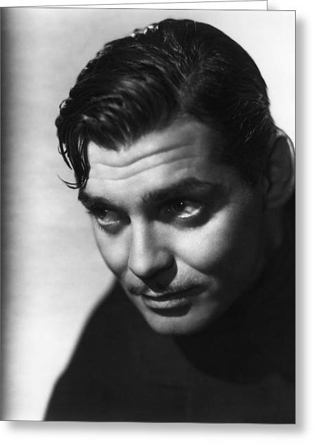 Greeting Card featuring the photograph Clark Gable by R Muirhead Art