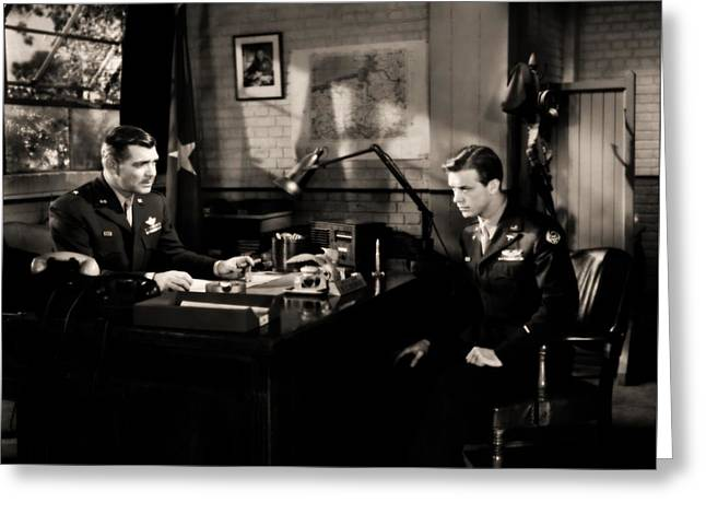 Clark Gable Staring In Command Decision Greeting Card