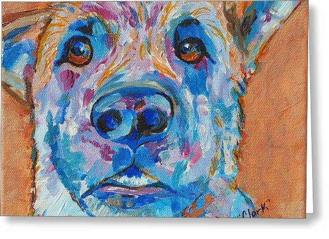 Talking Dog Greeting Cards - Clark Greeting Card by Jeanne Forsythe