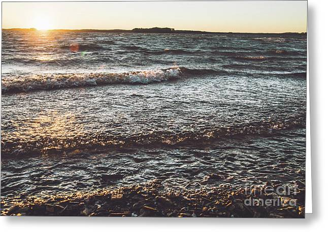 Greeting Card featuring the photograph Clarks Hill Lake by Andrea Anderegg