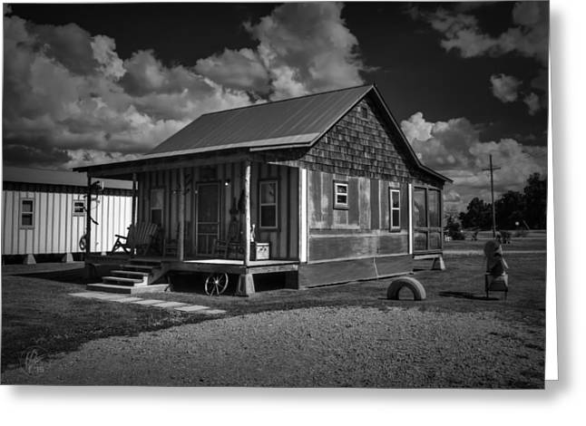 Clarksdale - Shack Up Inn 001 Bw Greeting Card by Lance Vaughn