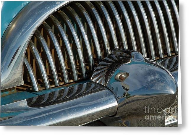 Classic American Car Bumper Greeting Card by Sami Sarkis