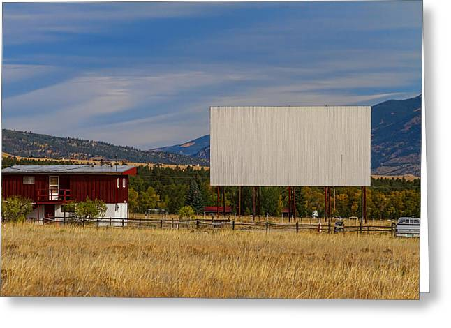 Classic American Retro Drive-in Theater Greeting Card
