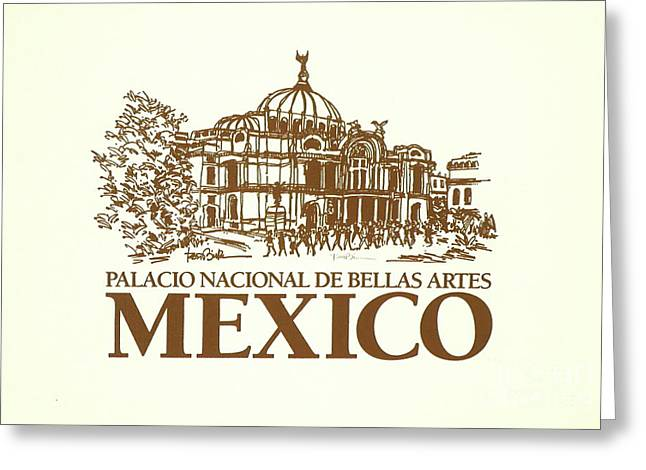 Classic Architecture In Mexico City Print Greeting Card by Robert Birkenes