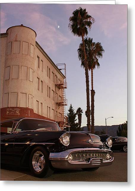 Classic At Sunset Greeting Card by Lawrence Costales