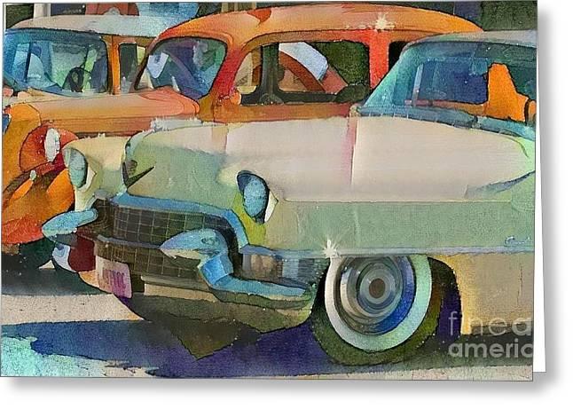 Classic Automotive  Greeting Card