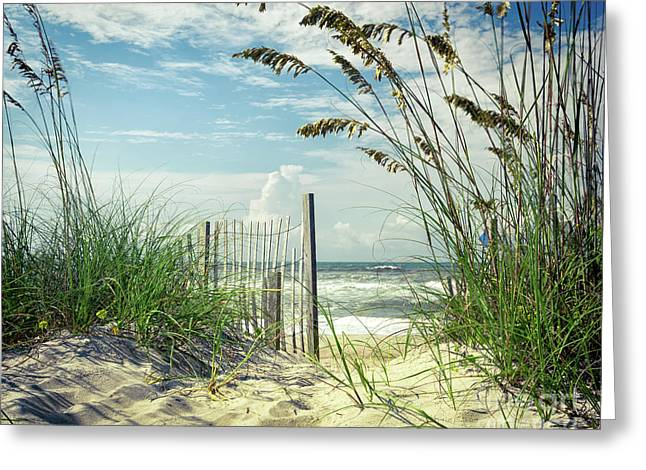 To The Beach Sea Oats Greeting Card