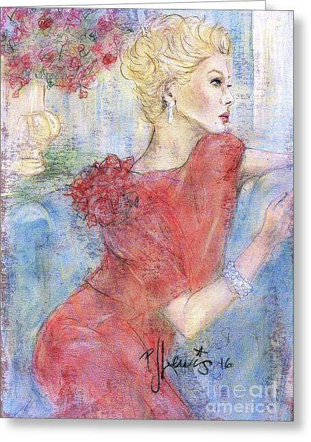 Classic Beauty Greeting Card by P J Lewis