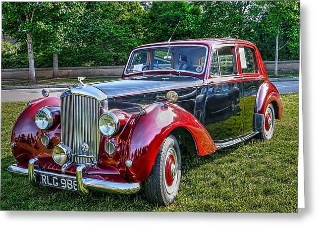 Classic Bentley In Red Greeting Card
