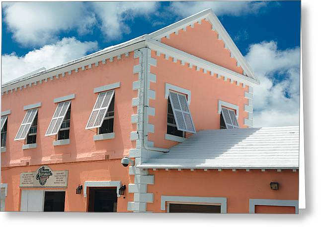 Classic Bermuda Style Building Somers Bermuda Greeting Card by George Oze