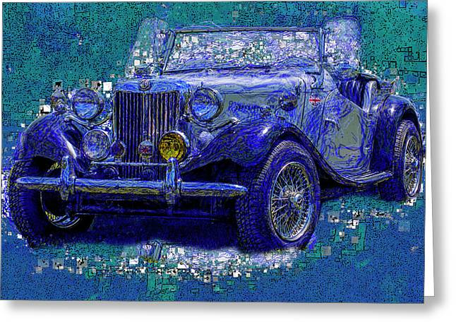 M G - Classic British Sports Car Greeting Card by Jack Zulli
