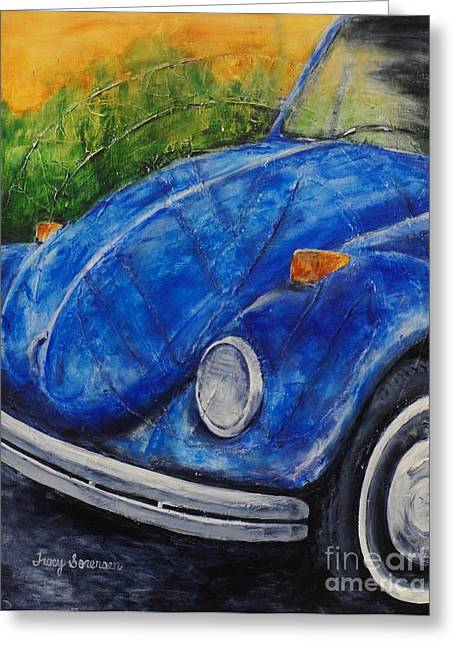 Classic Bug Greeting Card by Tracy Sorensen