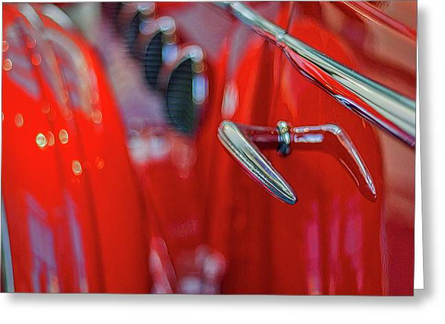 Classic Buick Lasalle Details Greeting Card by Stuart Litoff