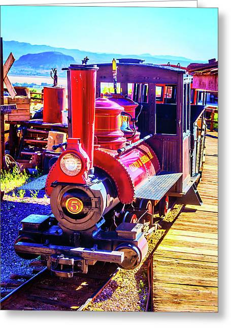 Classic Calico Train Greeting Card by Garry Gay