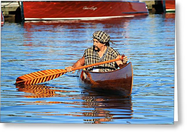 Classic Canoe Greeting Card