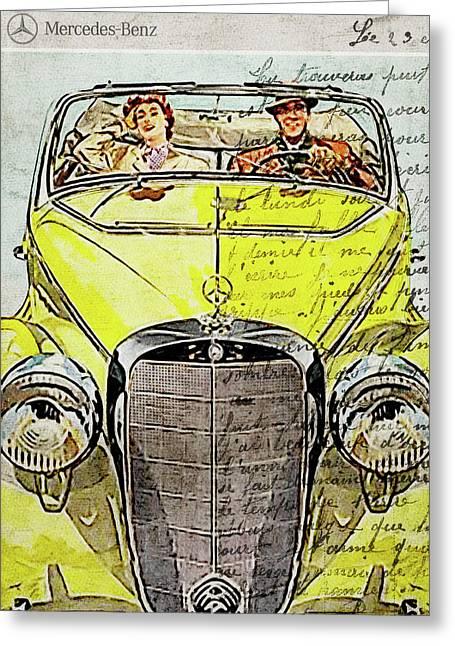 Classic Car Art - Classic Car Poster - Mercedes Vintage - Mercedes Benz - Mercedes Classic - Gifts - Greeting Card
