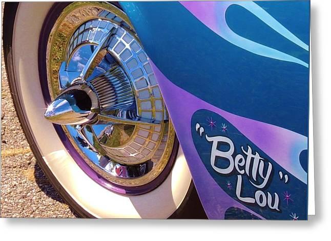 Classic Car Betty Lou Greeting Card