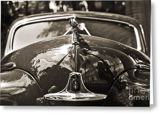 Classic Car Detail - Dodge 1948 Greeting Card