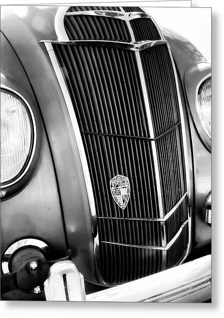 Greeting Card featuring the photograph Classic Car Grill 1935 Desoto - Photography by Ann Powell