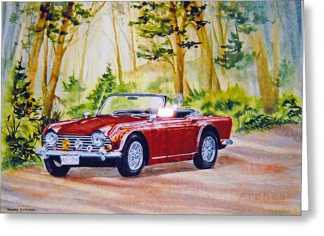 Classic-car Greeting Card by Nancy Newman