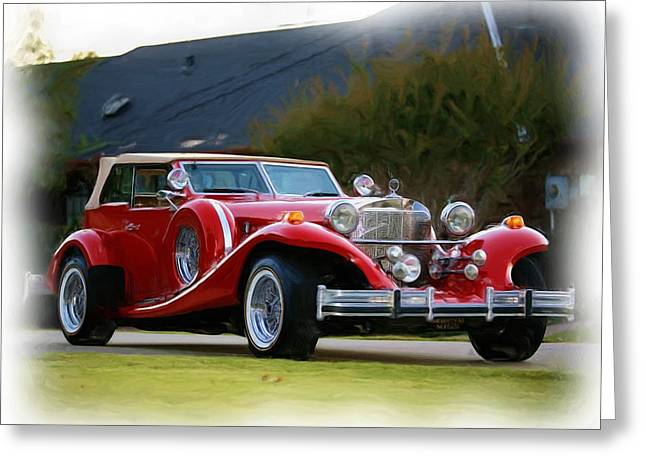 Classic Car Greeting Card by Nona Willivan