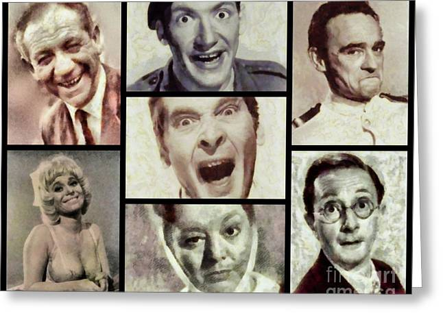 Classic Carry On Comedy Greeting Card by Esoterica Art Agency