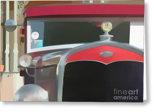 Classic Cars - 1931 Ford Tudor Grille And Windshield Greeting Card by Jason Freedman