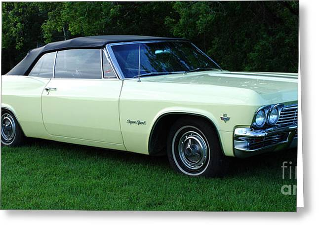 Classic Cars 1965 Chevrolet Impala Super Sport Convertible Greeting Card by Bob Christopher