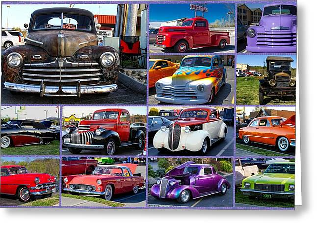 Classic Cars Greeting Card